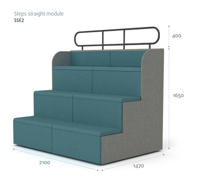 Steps Tiered Auditorium Seating Modules http://www.genesys-uk.com/steps_tiered_seating.html  Genesys Office Furniture - Home Page: http://www.genesys-uk.com  Steps tiered auditorium seating, is available as curved or straight modules.  It provides a flexible, modular solution, that is ideal for presentation areas, schools or colleages.
