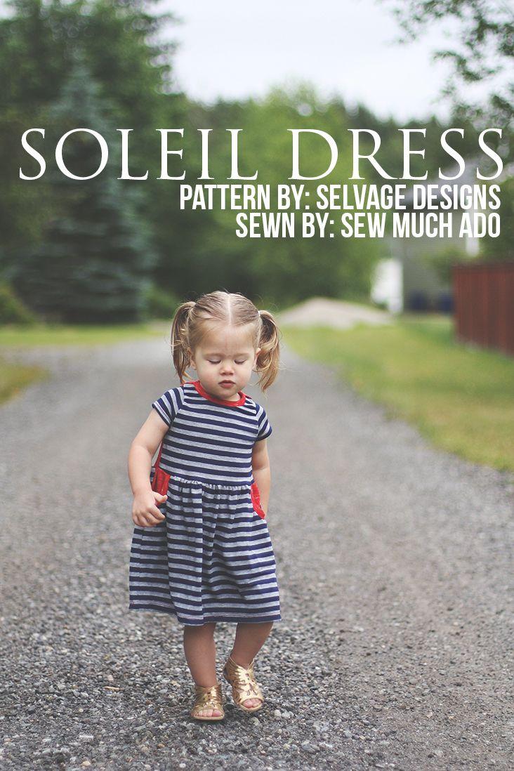 Soleil Dress Pattern - girls knit dress pattern sewn by Sew Much Ado