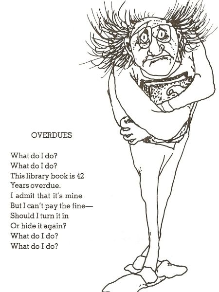 """""""Overdues"""" by Shel Silverstein - ThingLink"""