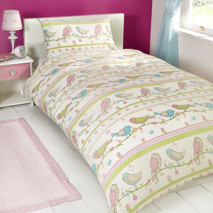 Birdy Floral Duvet Cover and Pillowcase Set