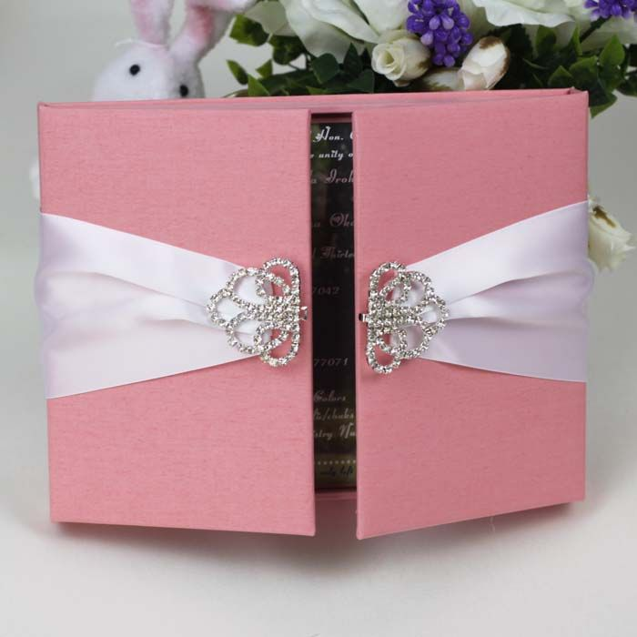 box wedding invitations online%0A Luxury Embellished Silk Box Invitations