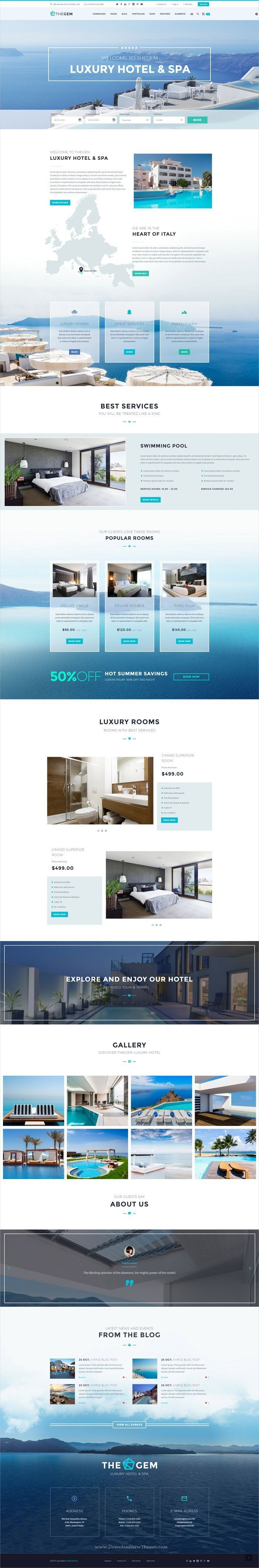 TheGem is creative multipurpose #PSD template for awesome #hotels #resorts websites and huge variety of design or web projects with 50+ homepage layouts & 200+ layered PSD files download now➩ https://themeforest.net/item/thegem-creative-multipurpose-psd-template/19746346?ref=Datasata