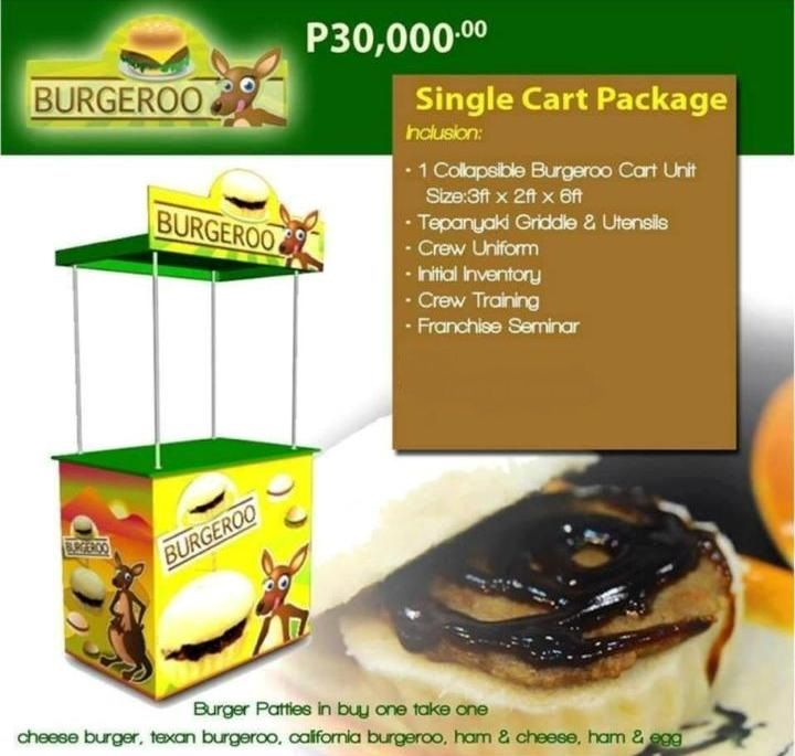 Burgeroo Food Cart Franchise at Php 30,000 only! Contact me @ 0999-8414-273