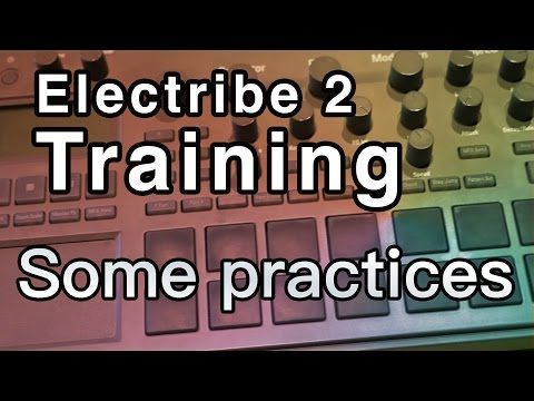 Korg Electribe 2 Tutorial   Training practices - knob  and trigger modes - YouTube