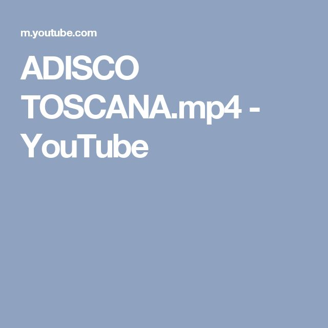 ADISCO TOSCANA.mp4 - YouTube