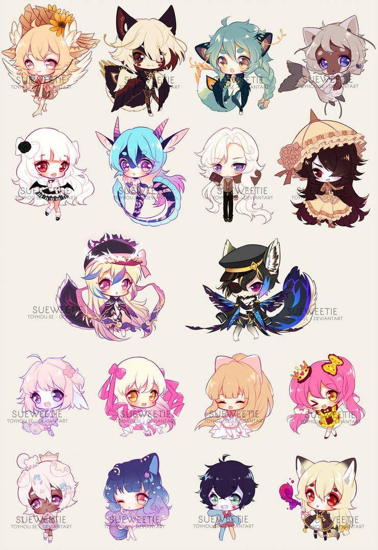 CHIBBIES BATCH 6 by Sueweetie Cute anime chibi, Chibi