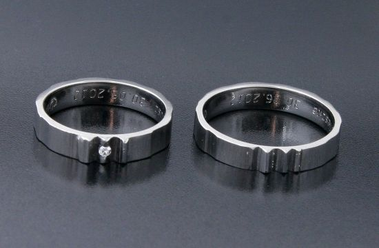 Rings by Bielak  Poland  palladium wedding rings  imprint collection