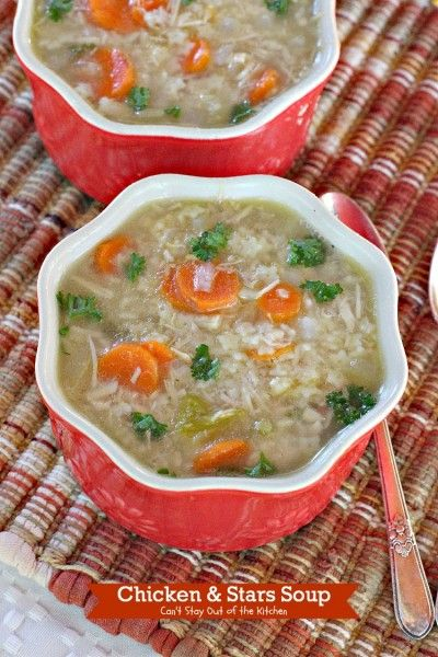 Chicken and Stars Soup | Can't Stay Out of the Kitchen | this homemade soup is Delicious! :)