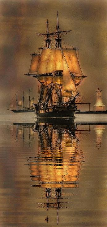 ♥«´¨`•°~ℒℴ℣ℇ~°•´¨`»♥   Ship reflecting