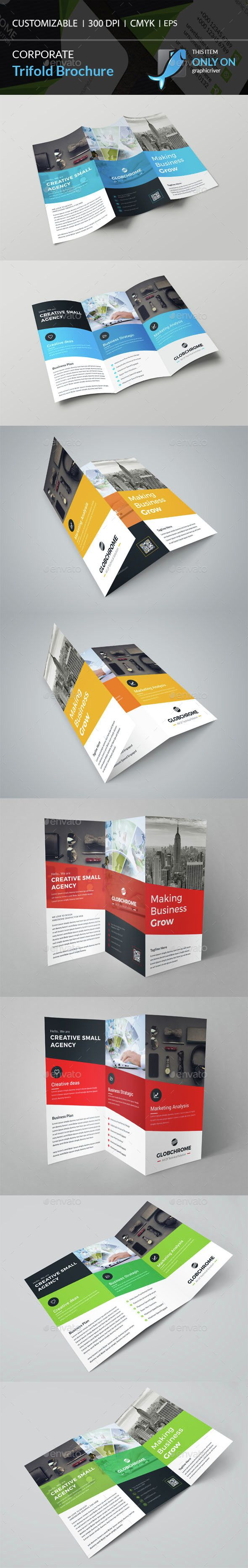 corporate trifold brochure template vector eps ai download here http