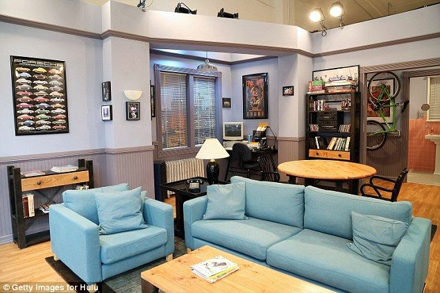 Replica: Hulu created a replica of Jerry Seinfeld's apartment from 'Seinfeld (pictured)' in honor of all nine seasons of the award-winning NBC sitcom becoming available on the video streaming service