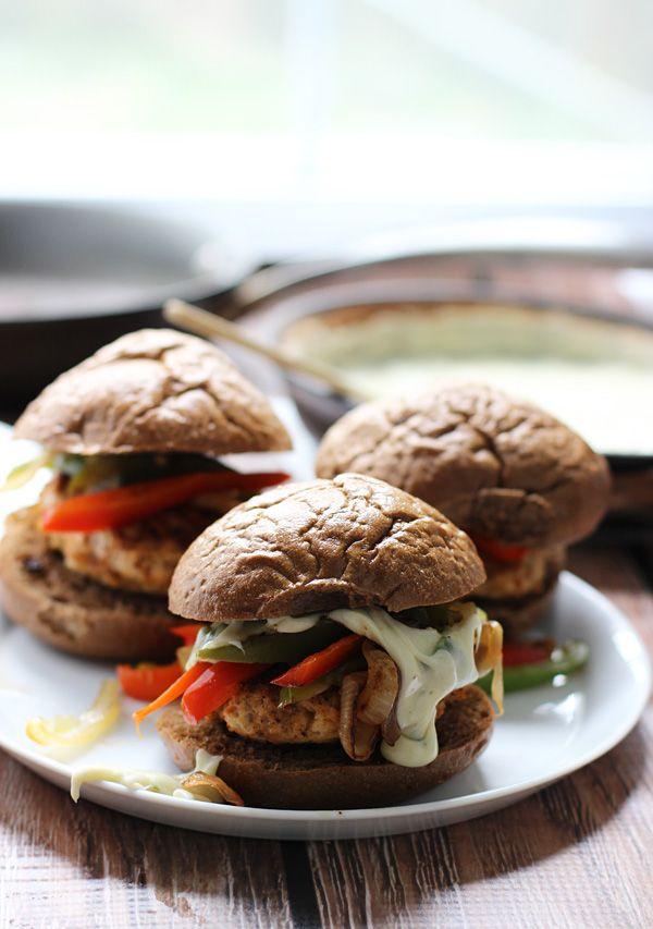 Fajita Chicken Sliders with 3 Ingredient Poblano Queso