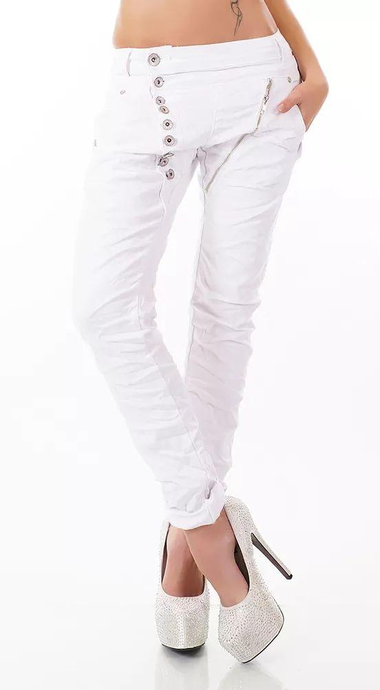Stylovédámské džíny v bílé barvě
