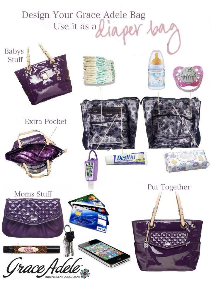 Grace Adele - Sarah bag can be a super stylish diaper bag! https://simplydevinestyle.graceadele.us/GraceAdele/Home  https://www.facebook.com/pages/Devine-Style/648353078538679