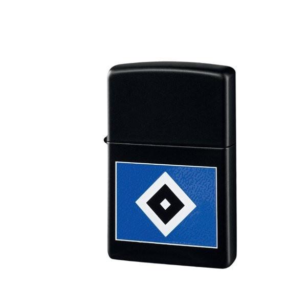 ZIPPO Feuerzeug matt schwarz Hamburger SV Bundesliga - Freizeit, Fanartikel Fußball - http://www.multifanshop.de