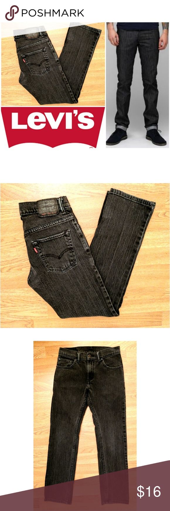"511 Skinny Levi's Charcoal  jeans These classic Levi's 511 skinny jeans are perfect for any occasion! Charcoal dark gray/soft black cotton denim wash with 1% spandex for stretch fit. Traditional 5 pocket style leather logo tag on back, red Levi's tag on back pocket. Size 14 regular, 27"" waist and 27"" inseam, model shows fit only. Dress up or down with boots and sweaters, sneakers and tees... Possibilities are endless! In EXCELLENT condition NO DAMAGES. Grab yours for less and look stylish in…"
