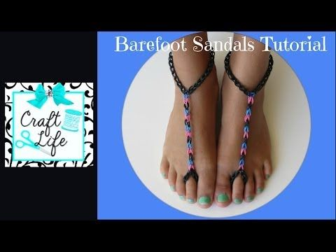 How to Make Triangle Barefoot Sandals Using the Rainbow Loom
