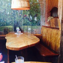 Common Ground Cafe - Hyannis, MA, United States. Cute tree house looking booths.