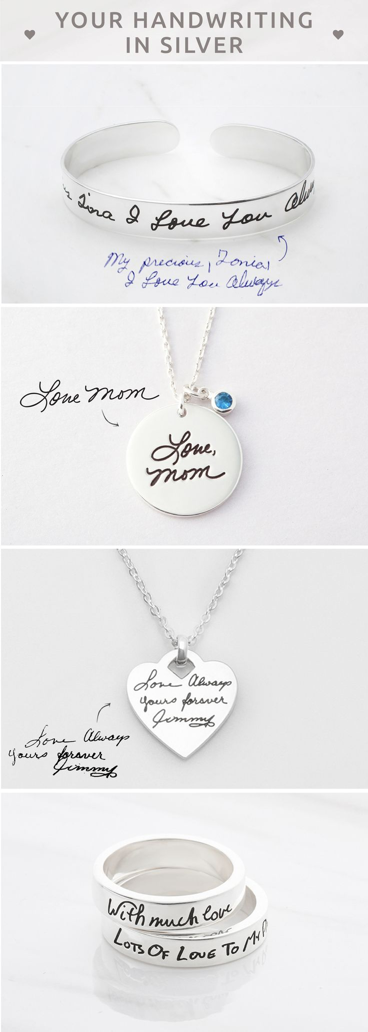 Handwriting Jewelry • Kid's Drawing Disc Necklace • Personalized Signature Necklace  • Bracelet with Handwriting Charm • Open Engraved Handwriting Ring • Personalized handwritten jewelry • Actual handwriting jewelry  • Handwritten jewelry • Memorial jewelry • Sympathy jewelry • Jewelry for sister • christmas gifts for teachers • engagement present ideas • graduation gift ideas for her • cool christmas gifts for teenage girl • mom birthday gifts • christmas gift ideas for mom