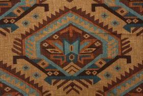 southwestern fabric | ... Saranac Southwestern Printed Linen Drapery Fabric $11.95 per yard