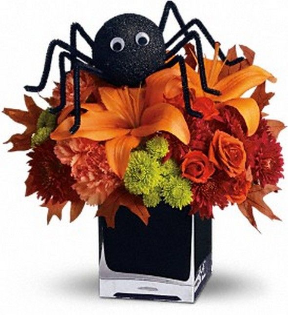 Halloween Centerpiece...easily could make spider :)