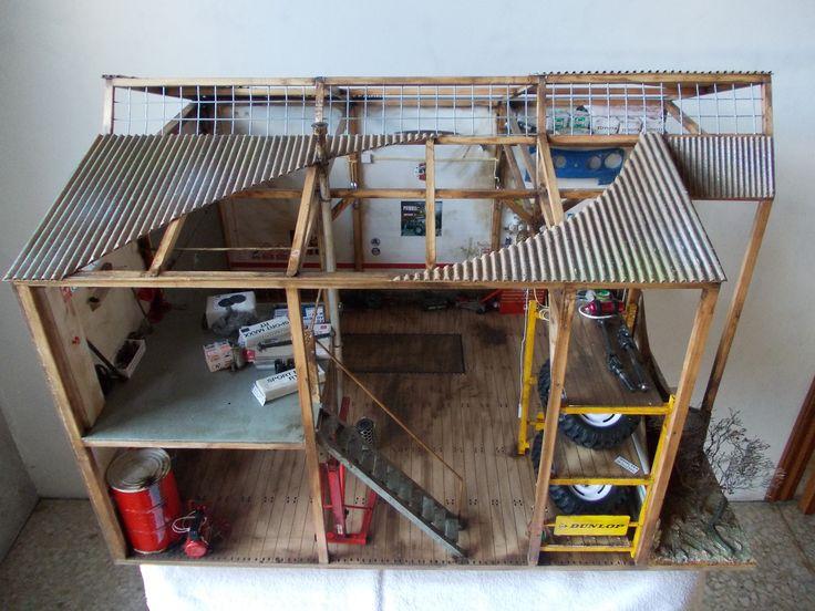 Taller-garaje para coches rc crawler 1.9 (escala 1/10) axial scx10, tamiya high lift...
