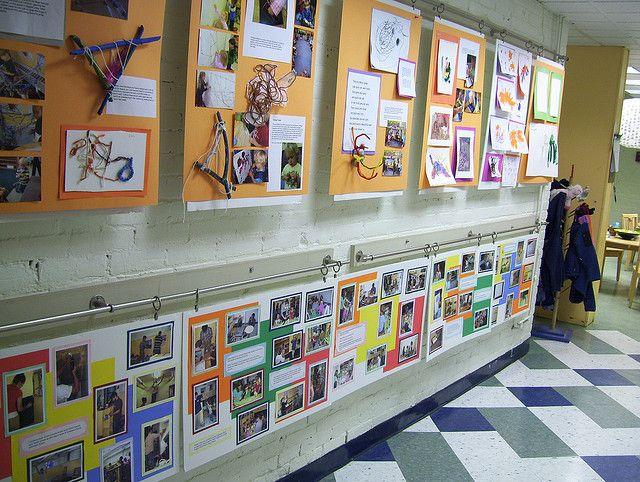 "Great way to display documentation at Breakwater School Preschool -'Documentation of artwork fall 2008 by Rachel Elizabeth Bingham' ("",)"
