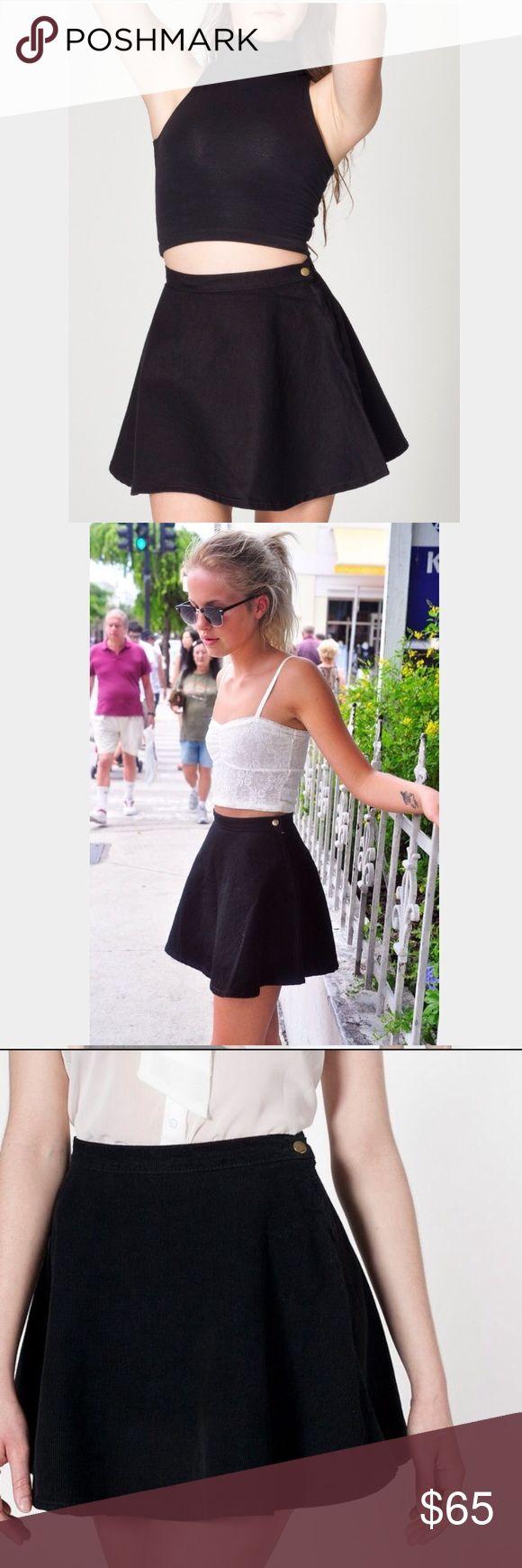 American apparel black skater circle skirt (denim Black denim. Size XS. Brand new with tags American Apparel Skirts Mini