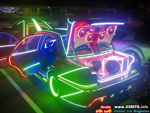 wira modified led car glow show pinterest cars. Black Bedroom Furniture Sets. Home Design Ideas