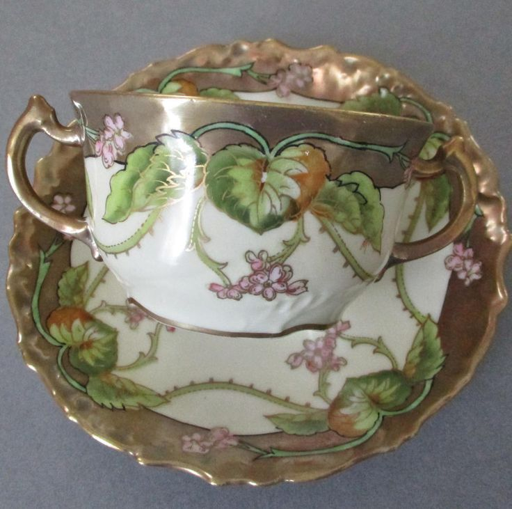 Antique ART NOUVEAU LIMOGES Porcelain Cream Soup + Saucer * HP ~ Artist Signed FOR SALE • $24.99 • See Photos! Money Back Guarantee. Payment Antique ART NOUVEAU LIMOGES Porcelain Cream Soup + Saucer * HP ~ Artist Signed Click to View Image Album Click to View Image Album Click to View Image Album 372030017763