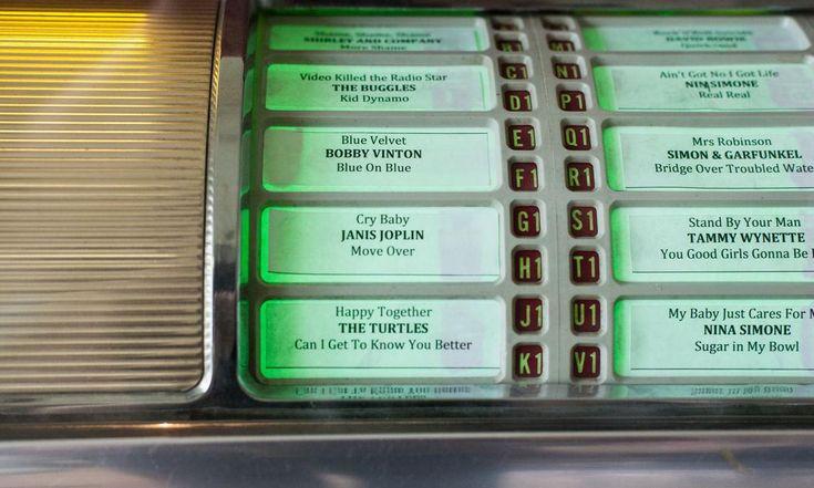 The Socialite Family | Détail de la jukebox Seeburg V200 chez Augustin Trapenard. #augustintrapenard #canal+ #intérieur #déco #jukebox #green #vert #home #thesocialitefamily