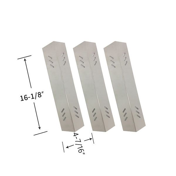3 PACK STAINLESS STEEL HEAT SHIELD REPLACEMENT FOR ACADEMY SPORTS B070E4-A, MEMBERS MARK BQ06043-1, M3206ALP GAS GRILL MODELS Fits Compatible Academy Sports Models : B070E4-A Read More @http://www.grillpartszone.com/shopexd.asp?id=38055&sid=35389