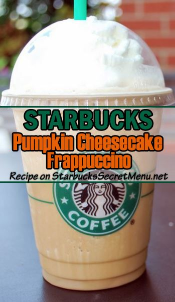 Starbucks Pumpkin Cheesecake Frappuccino! So rich and creamy. Dessert in a cup!