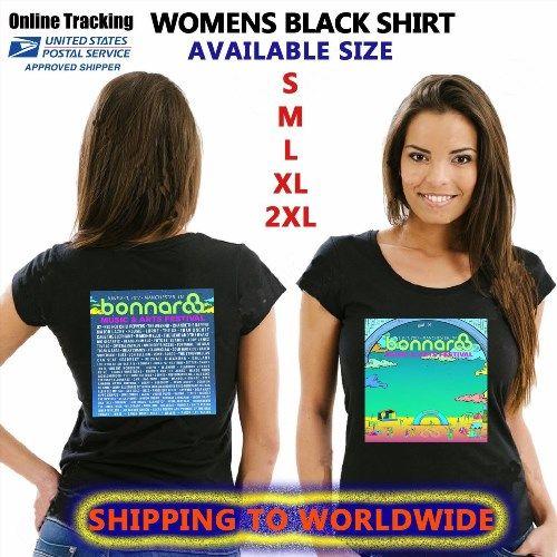 11.00$  Watch now - http://vimpl.justgood.pw/vig/item.php?t=ywkdow053 - BONNAROO FESTIVAL TOUR DATES 2017 FOR WOMENS MENS BLACK SHIRT S-3XL MEJA