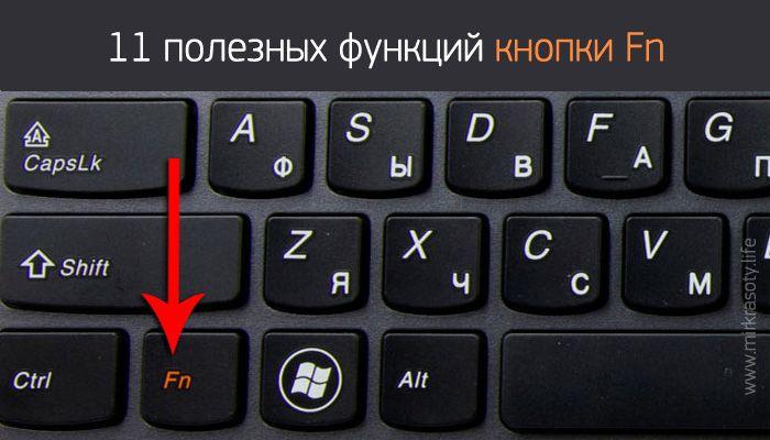 Наверняка, вы замечали у себя на ноутбуке клавишу Fn, рядом с Ctrl. Для чего же нужна эта таинственная кнопка (которой вы наверняка еще не пользовались)?