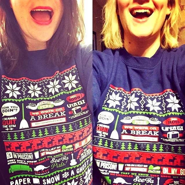 Next, we have Rileigh and Katelyn with their twin friends sweaters! They have so much joy and warmth to be shared this Christmas!  Regram @rileighbird Paper... Snow... A Ghost! #sisters @katelynrachelgalloway