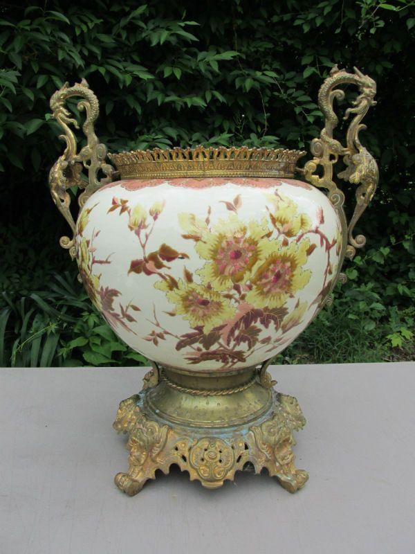 Zsolnay Hungarian Handicrafts Flower Colour Decor Porcelain Vase Stylish