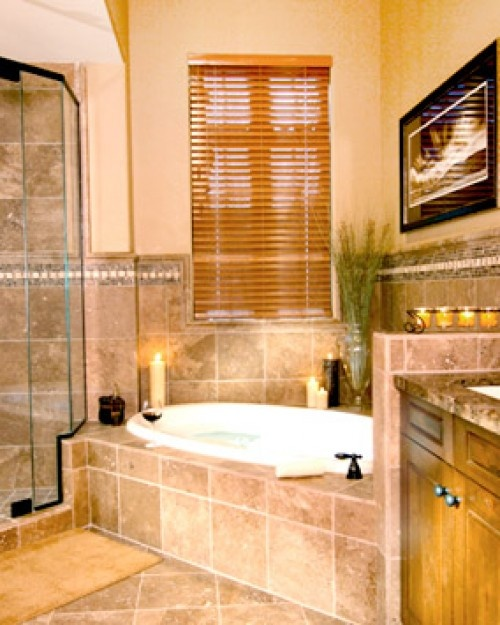 Spa Look Bathrooms: Spa-style Bathrooms With Sunken Tubs And Walk-in Showers