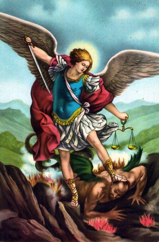 Michel est un des trois archanges avec Raphaël et Gabriel dans les traditions du judaïsme, du christianisme et de l'islam. Chef de la milice céleste, il est principalement représenté avec des attributs guerriers, en chevalier ailé qui terrasse le Diable....