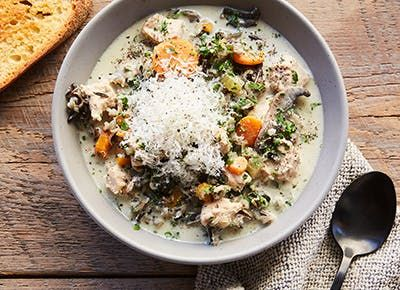 slow cooker chicken wild rice soup 290