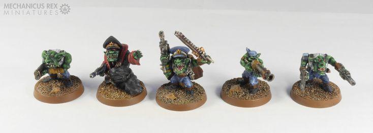 Kommissar Commissar Lieutenant Blunderbuss Command Grot Gretchin Goblin Gobo Squad Ork Blood Axe Clan Warhammer 40K