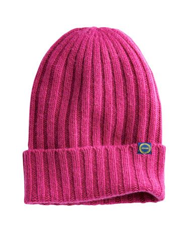Joules null Womens Beanie Hat, Ruby Pink.                     When the wind starts to chill your head and ears, this wool-rich hat is ready to come to the rescue. Perfect to pair with the Bawdy gloves and scarf.