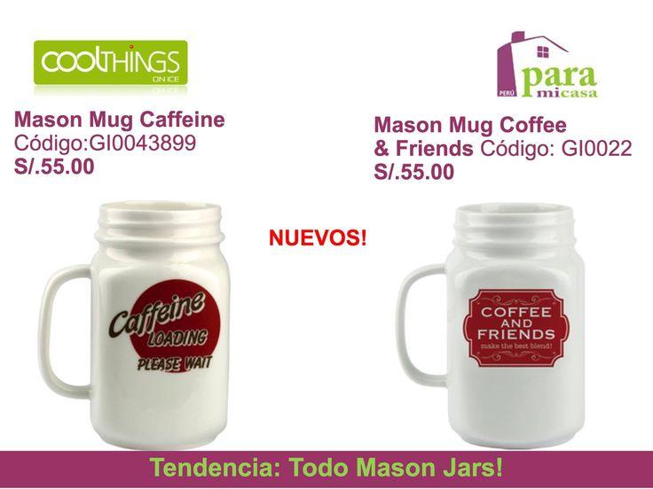 Mug Mason Jars !!! paramicasaperu@gmail.com