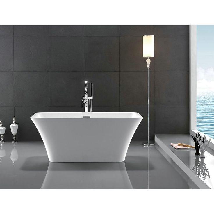 Legion Furniture White Chrome Acrylic 67 inch Bathtub   Size 66 to 71 inches. 17 Best ideas about Bathtub Sizes on Pinterest   Small bathroom