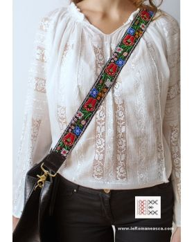 Hand embroidered with beads - detachable bag strap -boho chic - bohemian - worldwide shipping!