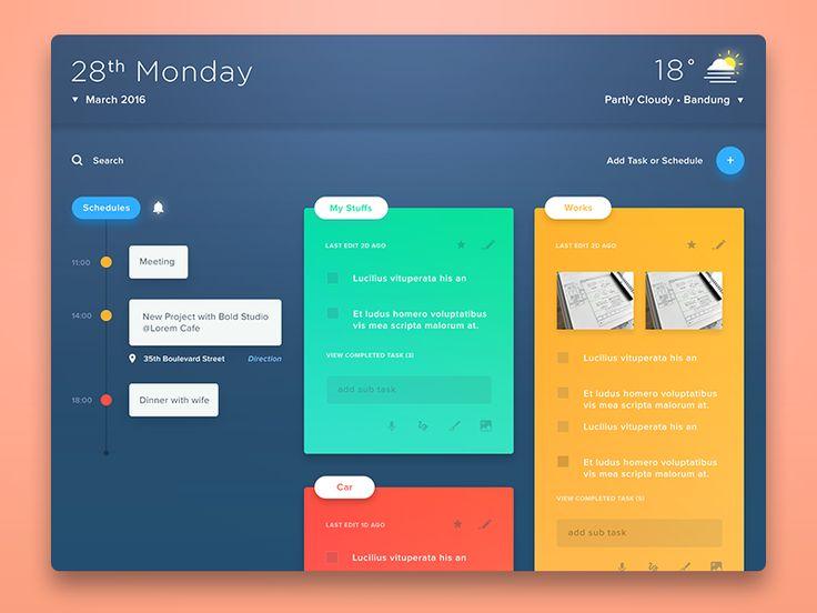 Task, Memo, Schedule, Weather & etc. (revamp) by Anton Chandra