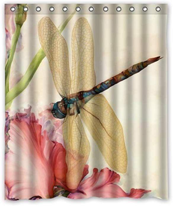 Amazon Com Beautiful Dragonfly Shower Curtain 60 X 72