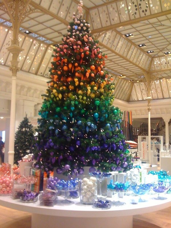 Christmas 2018 Rainbow Trend By John Lewis Will Be A Hit This Year Rainbow Christmas Tree Rainbows Christmas Ombre Christmas Tree