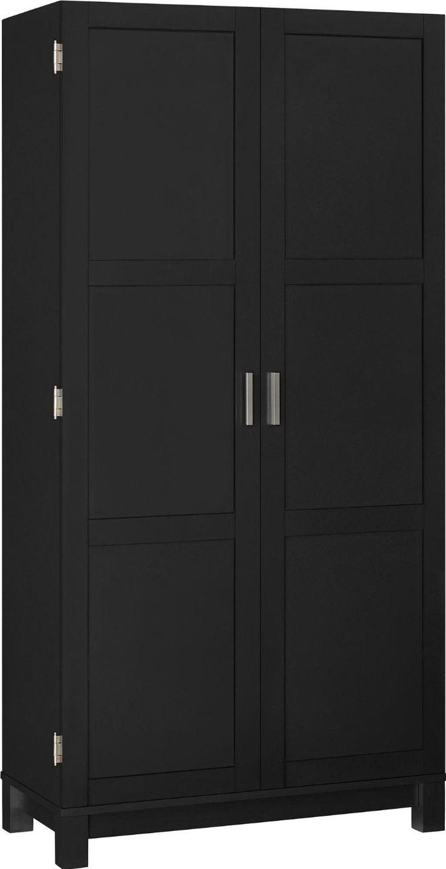 Black storage furniture - Amazon Com Altra Furniture Carver Storage Cabinet  Black Sonoma Oak 64 Apartment - Black Storage Furniture