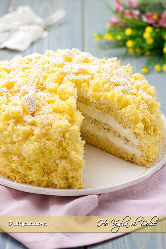 Torta mimosa all'ananas ricetta Ho Voglia di Dolce blog
